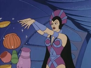 Evil-Lyn as she appeared in the 1983 Masters of the Universe Cartoon