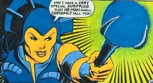 Evil-Lyn as she appeared in the Masters of the Universe mini comics