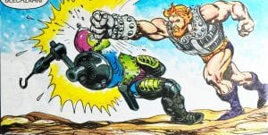 Fisto as he appeared in the Masters of the Universe mini comic