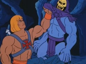 He-Man as he appeared in the original Masters of the Universe cartoon