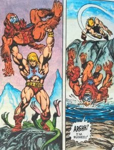 He-Man as he appeared in the Masters of the Universe Mini Comic