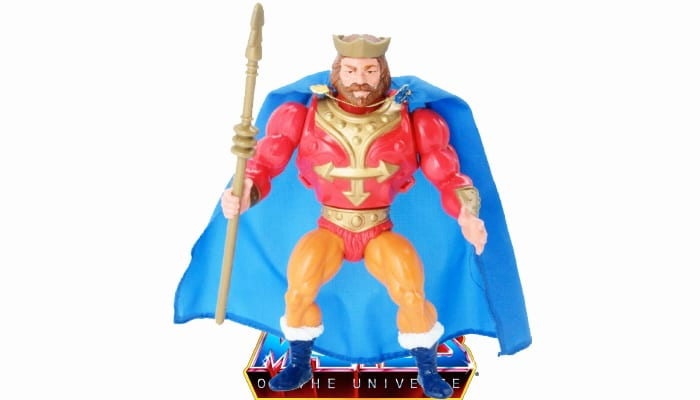 King Randor action figure from the vintage Masters of the Universe original series toy line.
