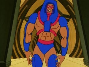 Man-E-Faces as he appeared in the Masters of the Universe Cartoon