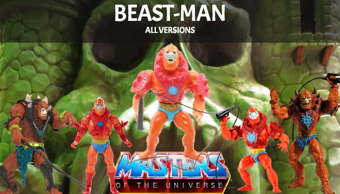 Beast Man Masters of the Universe figures versions