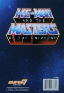Super7 Filmation Masters of the Universe Slip Cover Back