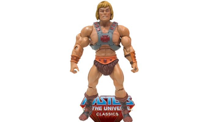 He-Man action figure from the Masters of the Universe Classics toy line.