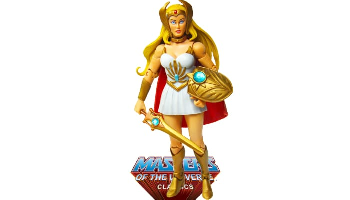 She-Ra action figure from the Masters of the Universe Classics line.