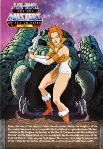 Teela Filmation Super7 Masters of the Universe box back