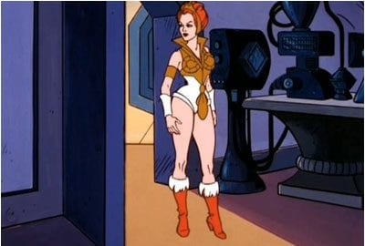 Teela from the original He-Man and the Masters of the Universe cartoon