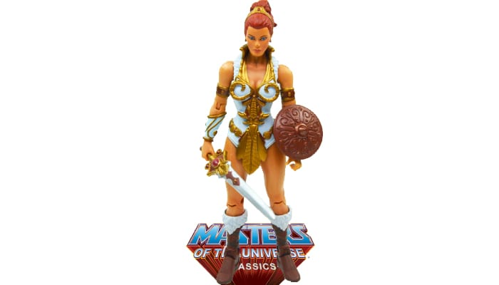 Teela action figure from the Masters of the Universe Classics line.