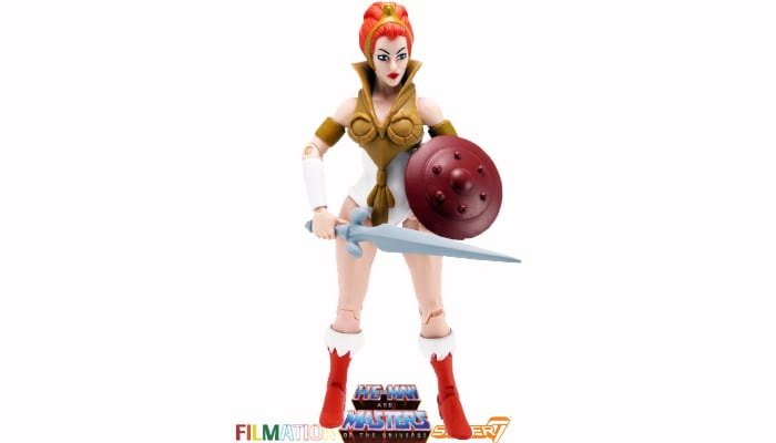 Teela action figure from the Filmation Super7 Masters of the Universe toy line