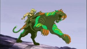 Battle Cat as he appeared in the Masters of the Universe 200x Series Cartoon