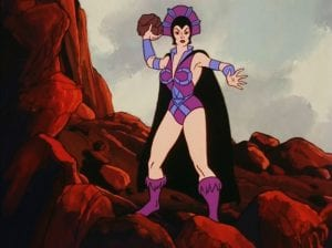 Evil-Lyn as she appeared in the Masters of the Universe cartoon