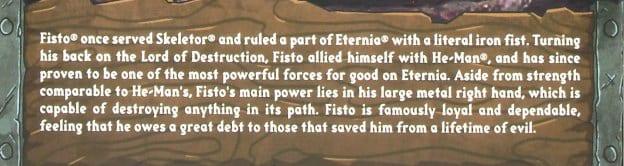Fisto Filmation Super7 Masters of the Universe Bio