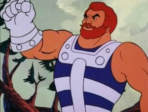 Fisto as he appears in the Masters of the Universe cartoon