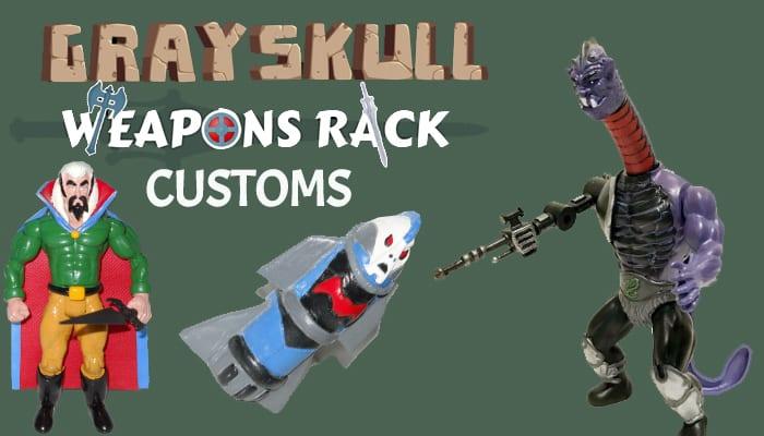 Grayskull Weapons Rack Customs