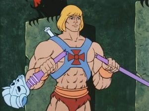 He-Man as he appears in the Masters of the Universe cartoon