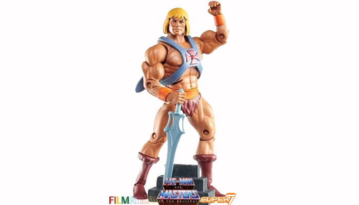 He-Man action figure from the Filmation Super7 Masters of the Universe toy line.