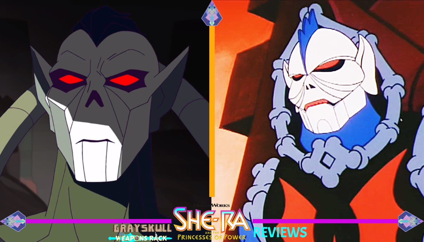 Hordak as he appears in the Dreamworks Netflix series vs. 1980's Filmation cartoon