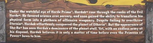 Hordak Filmation Super7 Masters of the Universe Bio