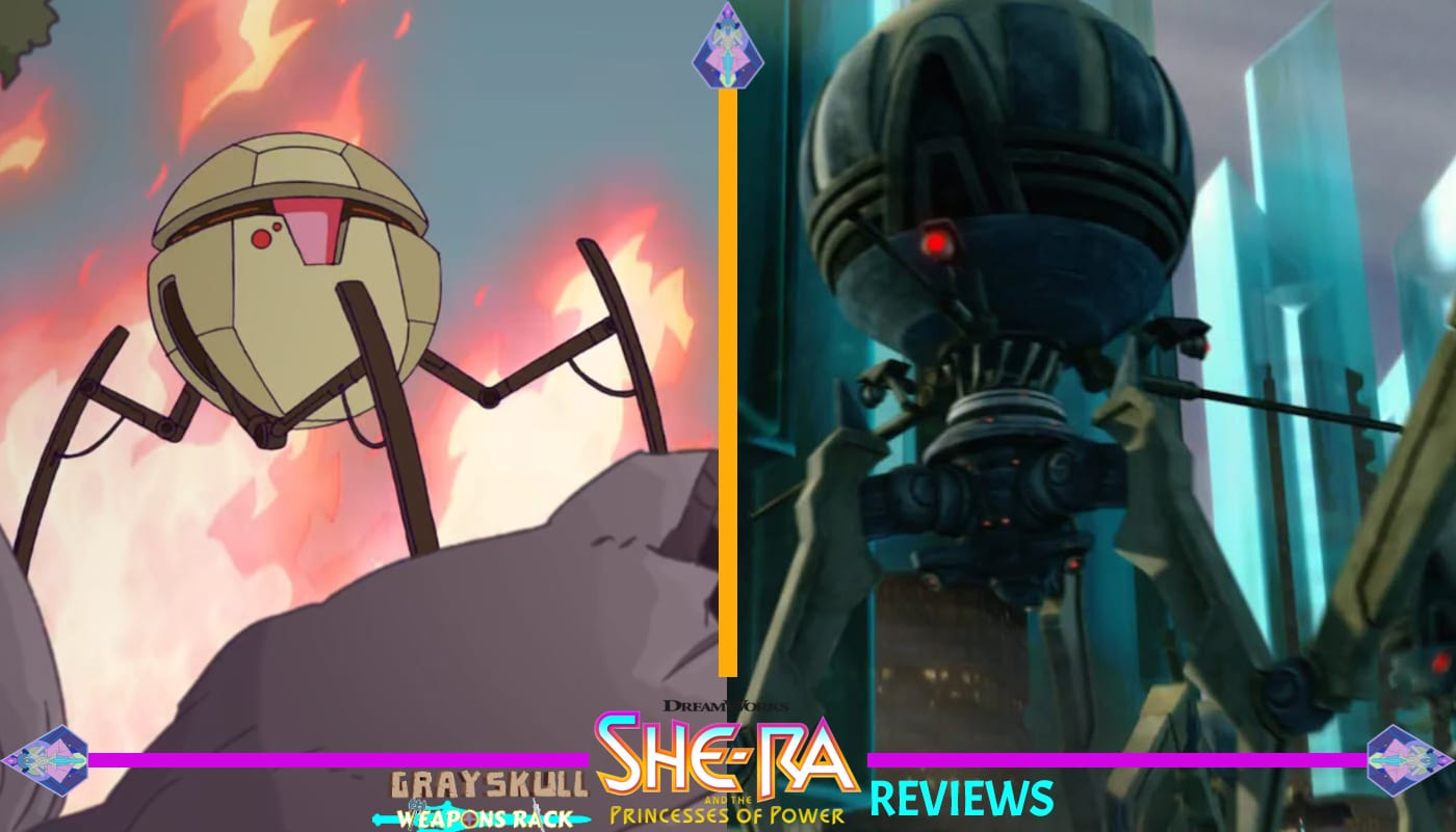 Horde droid and the Star Wars Octuptarra droid comparisons.