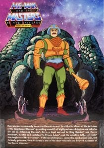 Man-At-Arms Filmation Super7 Masters of the Universe Box Back