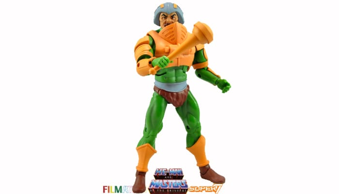 Man-At-Arms action figure from the Filmation Super7 Masters of the Universe toy line.