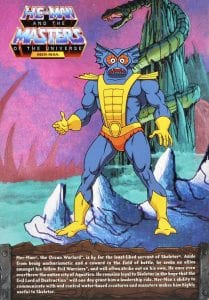 Mer-Man Filmation Super7 Masters of the Universe Box Back