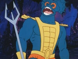 Mer-Man as he appeared in the Masters of the Universe Cartoon