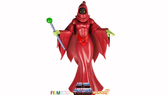 Shadow Weaver action figure from the Filmation Super7 Masters of the Universe toy line.