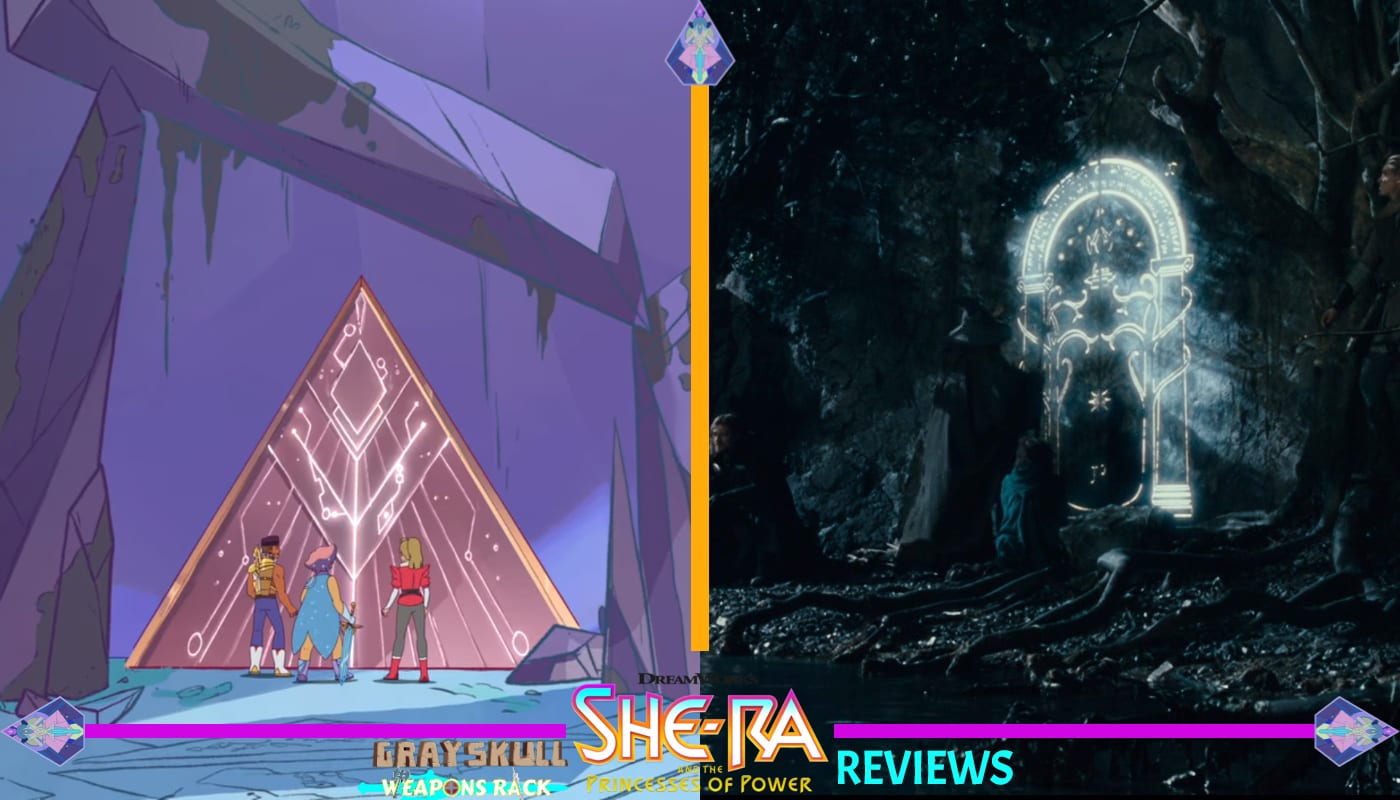 She-Ra Lord of the Rings Comparison Door opening