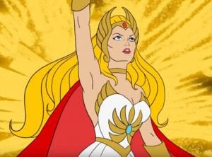 She-Ra as she appeared in the She-Ra and the Princess of Power Cartoon