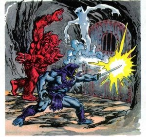 Skeletor's energy blade as it appeared in the Masters of the Universe Mini Comic