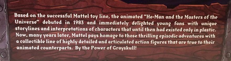 Skeletor Filmation Club Grayskull Bio