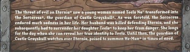 Sorceress Filmation Super7 Club Grayskull Bio