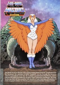 Sorceress Filmation Super7 Masters of the Universe figure box back