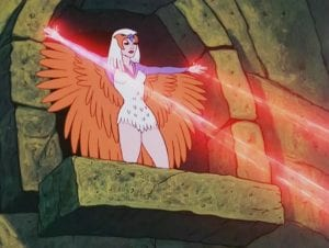 Sorceress as she appeared in the Masters of the Universe cartoon