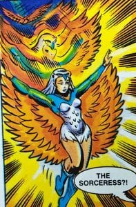 Sorceress as she appeared in the Masters of the Universe Mini Comics