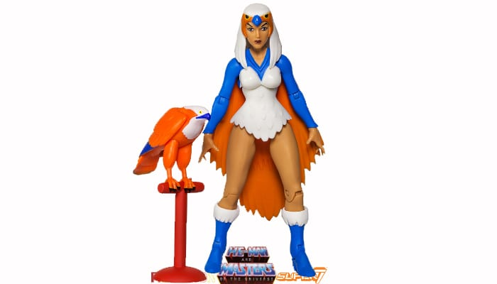 Sorceress action figure from the Filmation Super7 Masters of the Universe toy line.