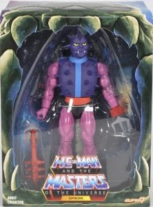 Spikor's box front from the Filmation Super7 Masters of the Universe toy line